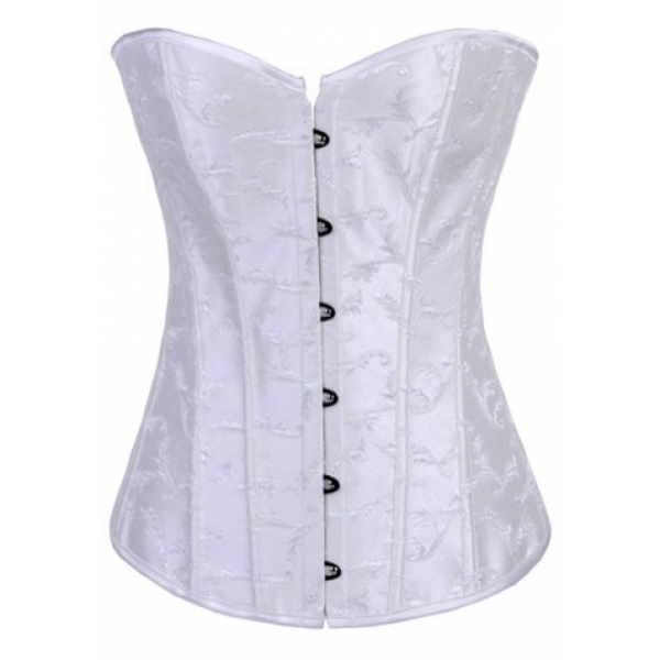 **CELLY** IMPORTED FEATHER EMBROIDERY STRAPLESS CORSET