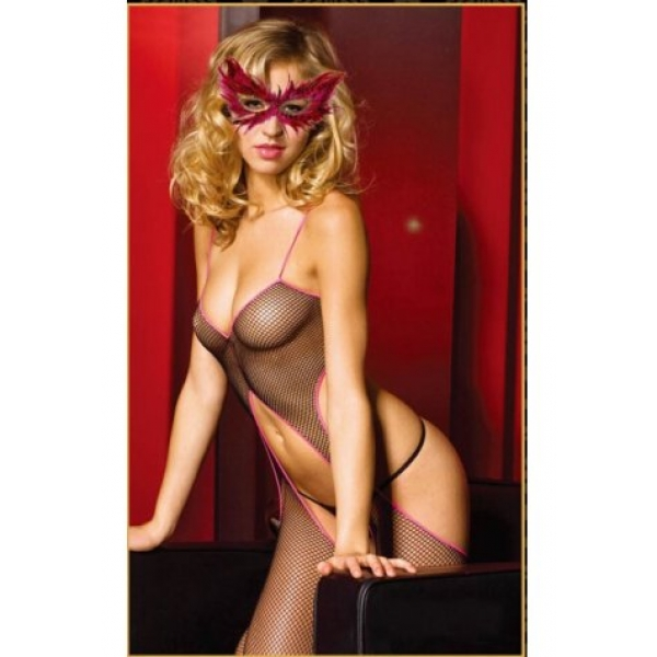**CELLY** IMPORTED FISHNET OPEN BACK BODYSTOCKING