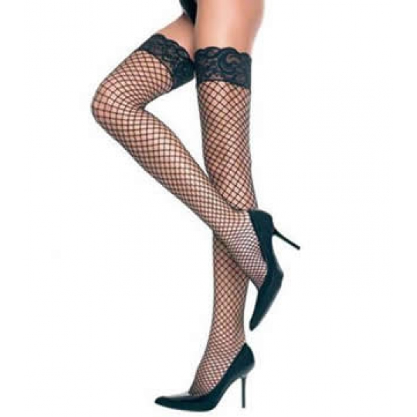 **CELLY**Imported Fishnet Stockings with Stretch Lace Top