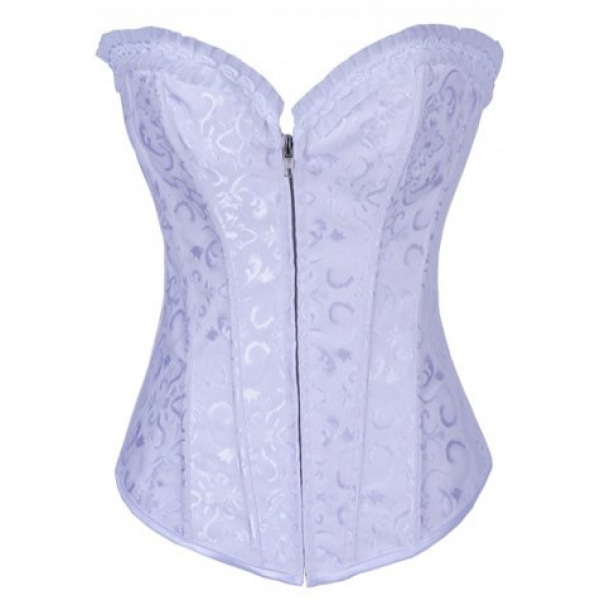 **CELLY** IMPORTED FLORAL EMBROIDERED STEEL BONING ZIPPER CORSET