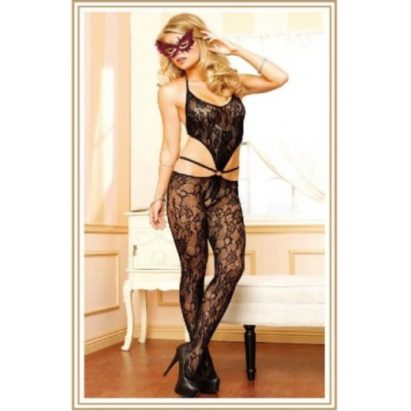 **CELLY** IMPORTED FLORAL LACE STRAPPY BODYSTOCKING