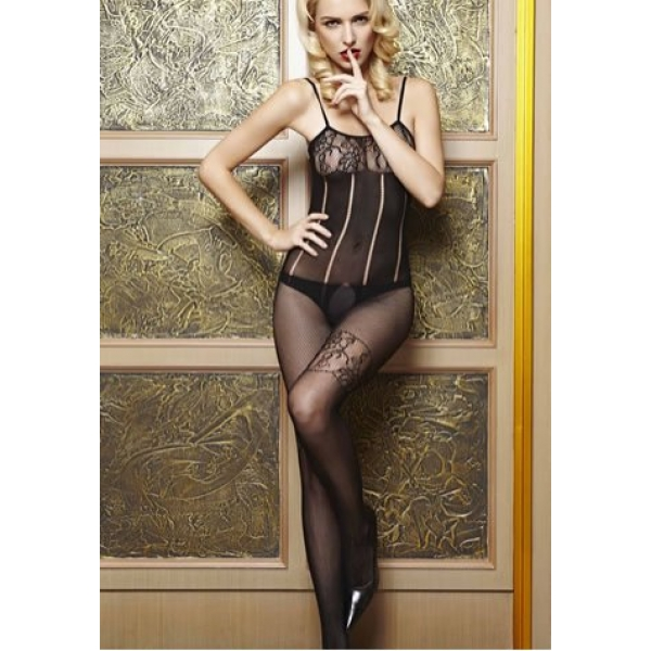 **CELLY**IMPORTED FLORAL LACE TRIMMED BODYSTOCKING