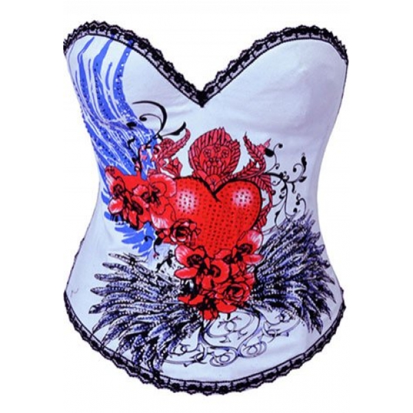 **CELLY** IMPORTED FLYING HEART BURLESQUE CORSET