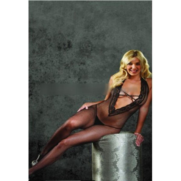 **CELLY** Imported Halter Bodystocking