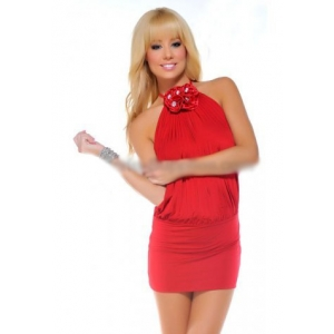 **CELLY** Imported Halter Neck Mini Dress