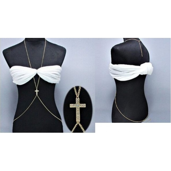 **CELLY** Imported Jewelry for Women Sexy Rhinestone Cross Body Chain