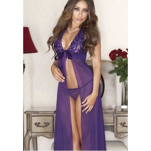 **CELLY**Imported Lace Top Flaway Baby Doll & Long Dress