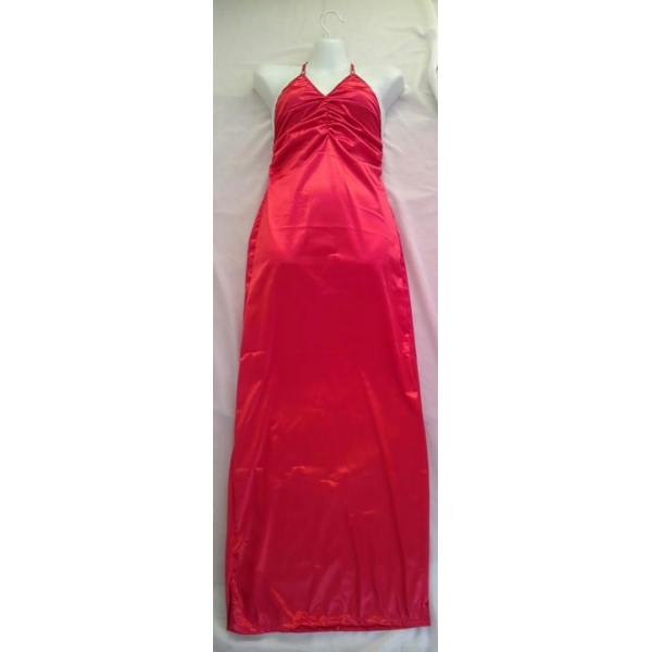**CELLY** IMPORTED LONG V NECK GOWN (RED)