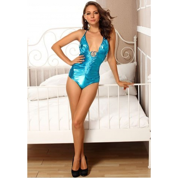 **CELLY** IMPORTED METALLIC ROMPER WITH O-RING