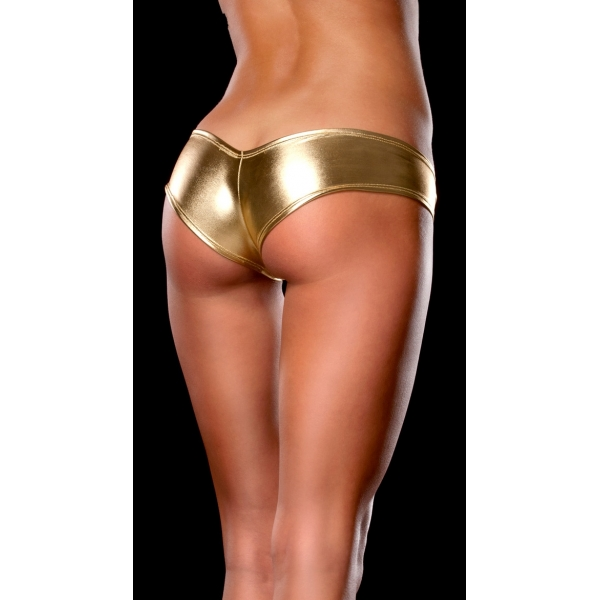 **CELLY** IMPORTED METALLIC SHORTS (GOLD)