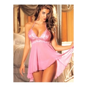 **CELLY** Imported Multi Fiber Chiffon & Stretch Lace Baby Doll Import..