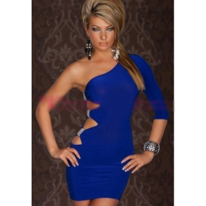 **CELLY** Imported One-Arm Mini Dress