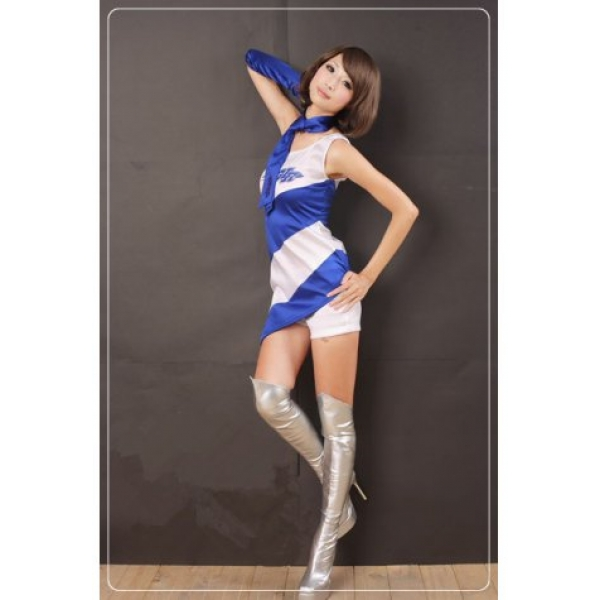 **CELLY** Imported One Shoulder Side Cheerleaders Dress