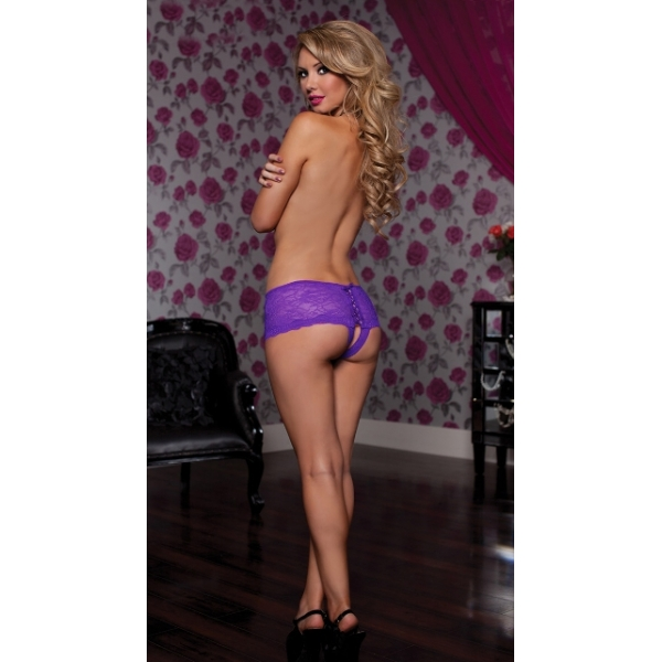 **CELLY** IMPORTED OPEN CROTCH PANTY (PURPLE)