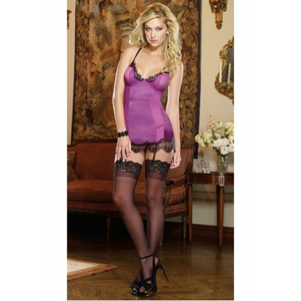 **CELLY**Imported Orchid Suspender Elastic Gauze Corset