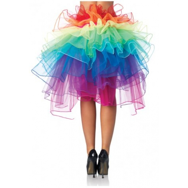 **CELLY**Imported peacock rainbow tail dress