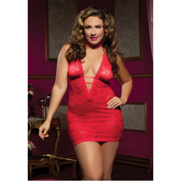 **CELLY** Imported Plus Size Midnight Affair Chemise
