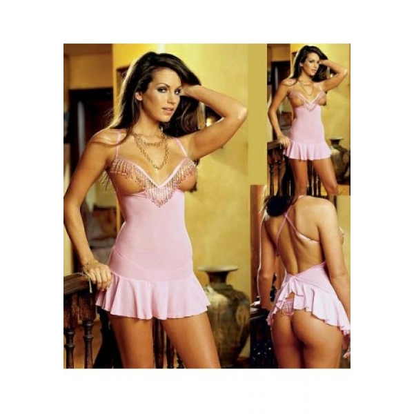 **CELLY** Imported Plus Size Open Bust Stretch Lycra Chemise