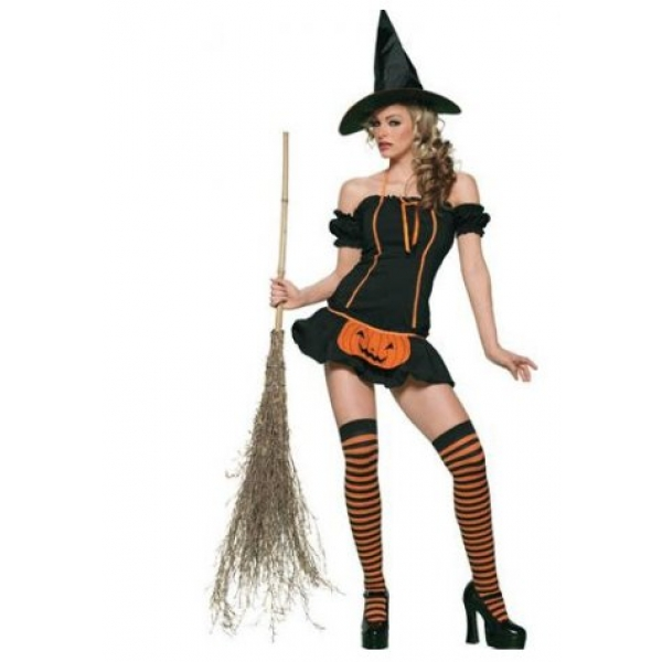 **CELLY**IMPORTED PUMPKIN GIRL WITCH COSTUME