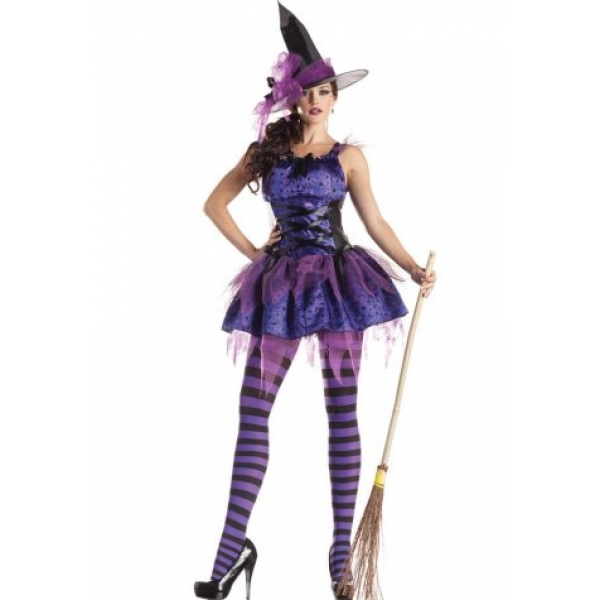 **CELLY** IMPORTED PURPLE WITCH STRIKING COSTUME