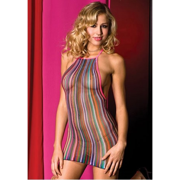 **CELLY** IMPORTED RAINBOW FISHNET CHEMISE
