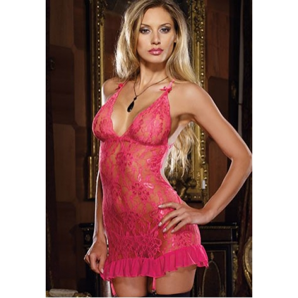 **CELLY** IMPORTED ROMANTIC LACE DRESS WITH OPEN BACK