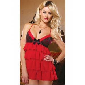 **CELLY** Imported Ruffled Mesh Babydoll