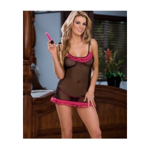 **CELLY** Imported Scalloped Lace Mesh Babydoll