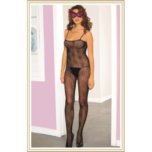 **CELLY** IMPORTED SEXY FLOWER PATTERN PRINTED BODYSTOCKING