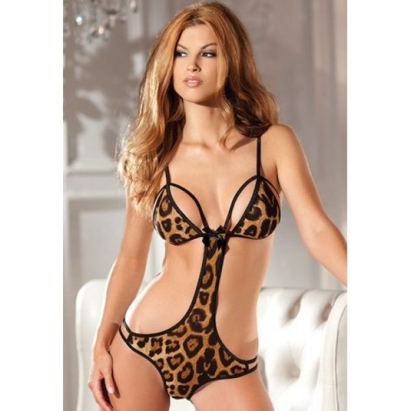 **CELLY** IMPORTED SEXY LEOPARD PRINT TEDDY