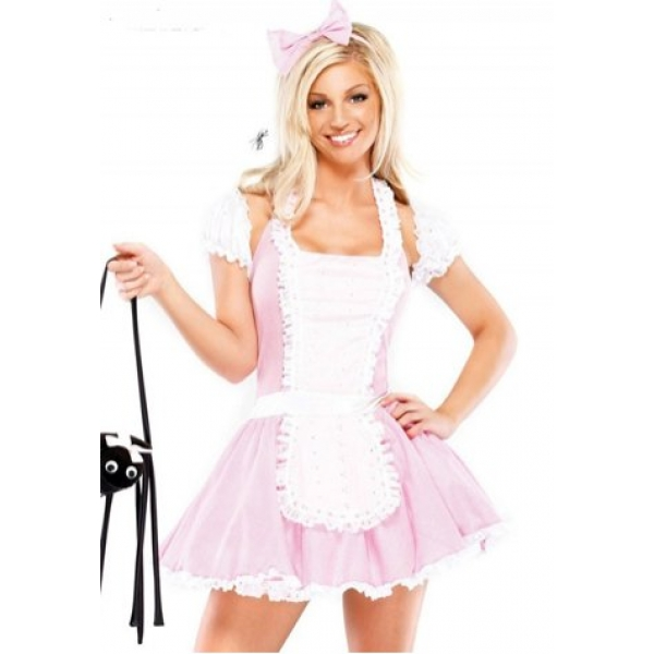 **CELLY** Imported Sexy Pink Maid Costume Uniform Alice Dream