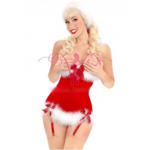 **CELLY** Imported Sexy Miss Santa Underbust Corset
