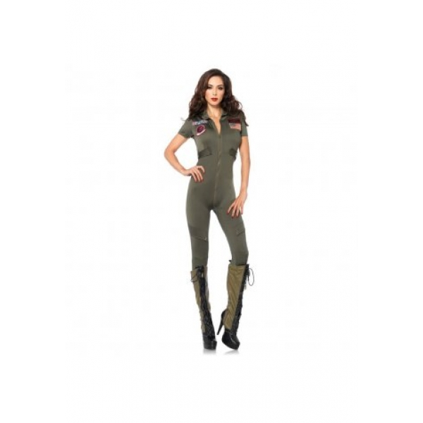 **CELLY**IMPORTED SEXY TOP GUN FLIGHT SUIT COSTUME