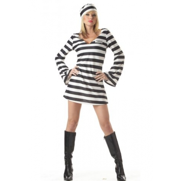 **CELLY**IMPORTED SEXY WOMEN'S PRISONER COSTUME
