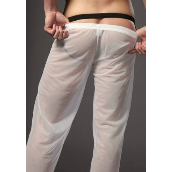 **CELLY** IMPORTED SHEER PANTS FOR MAN (WHITE)