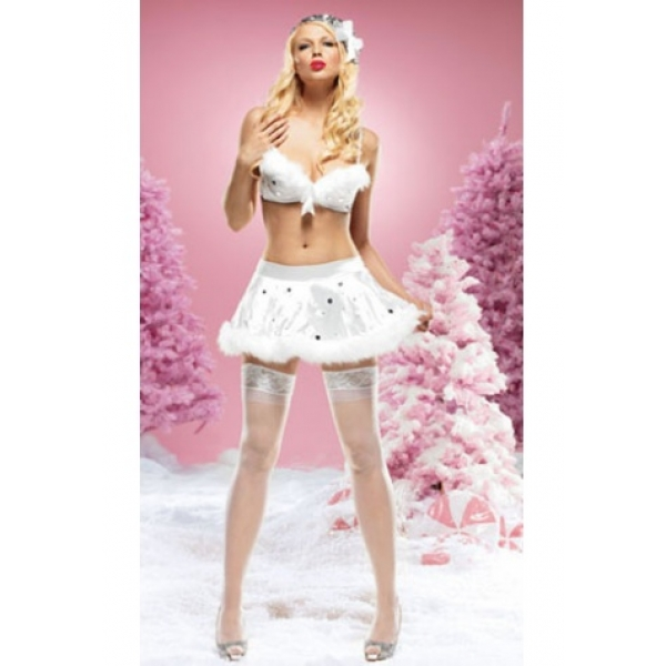 **CELLY** IMPORTED SNOWFLAKE SEQUINED BRA AND SKIRT