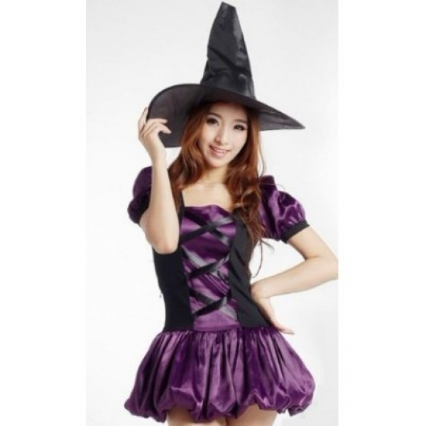 **CELLY** IMPORTED STRIKING WITCH PURPLE COSTUME