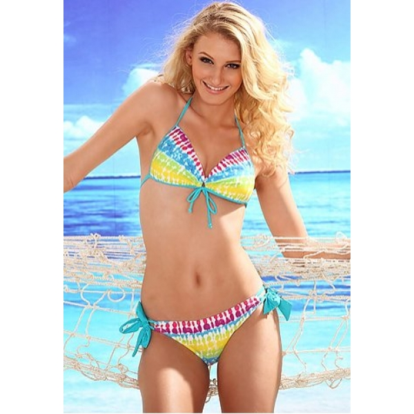 **CELLY** Imported Summer Cool- Rainbow Gradient Triangle Type Push-up..