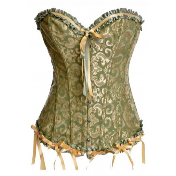 **CELLY** IMPORTED VICTORIAN JACQUARD TAPESTRY CORSET
