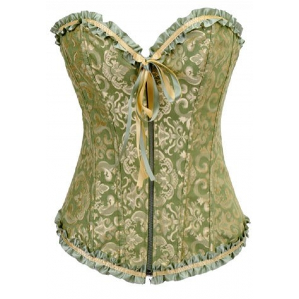 **CELLY** IMPORTED VICTORIAN JACQUARD TAPESTRY ZIPPER CORSET