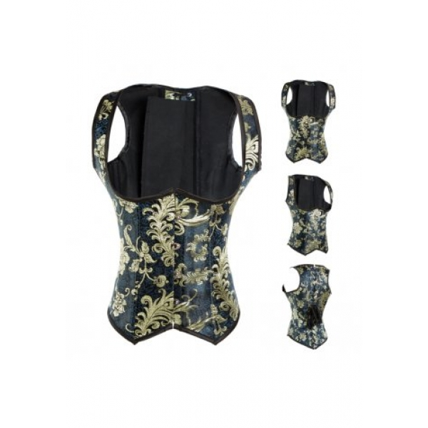 **CELLY**Imported Vintage Embroidered Underbust Corset
