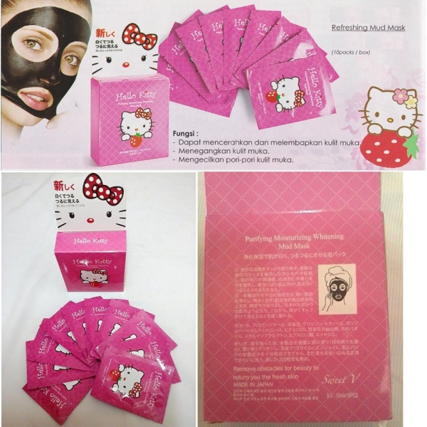 **CELLY**Made in Japan Hello Kitty Refreshing Mud Mask