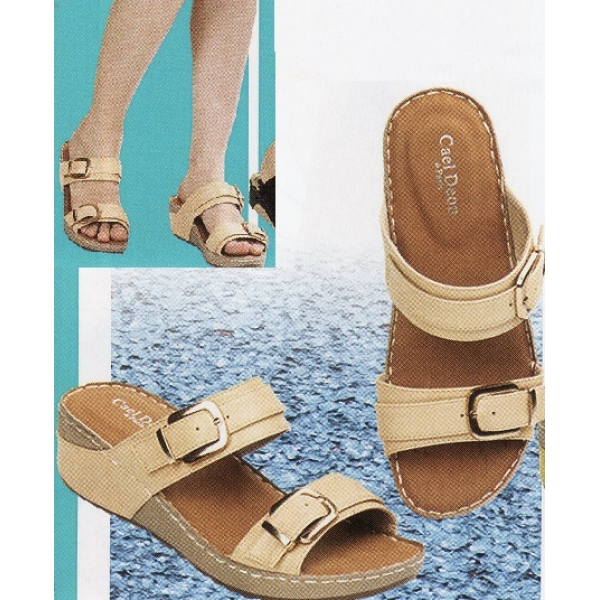 **CELLY**Ladies Comfort Shoe Sandal (Champagne)