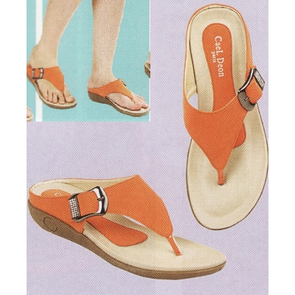 **CELLY**Ladies Comfort Shoe Sandal (Orange)
