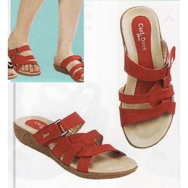 **CELLY**Ladies Comfort Shoe Sandal (Red)