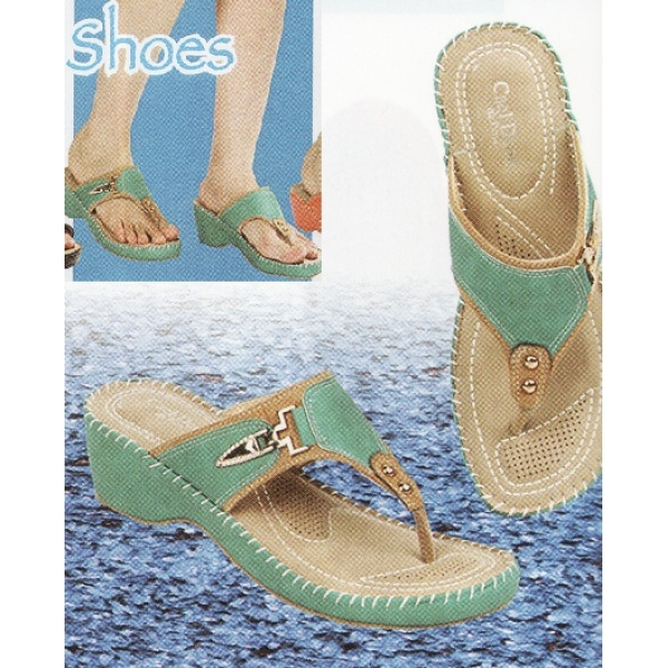 **CELLY**Ladies Comfort Shoe Sandal (Turquoise)