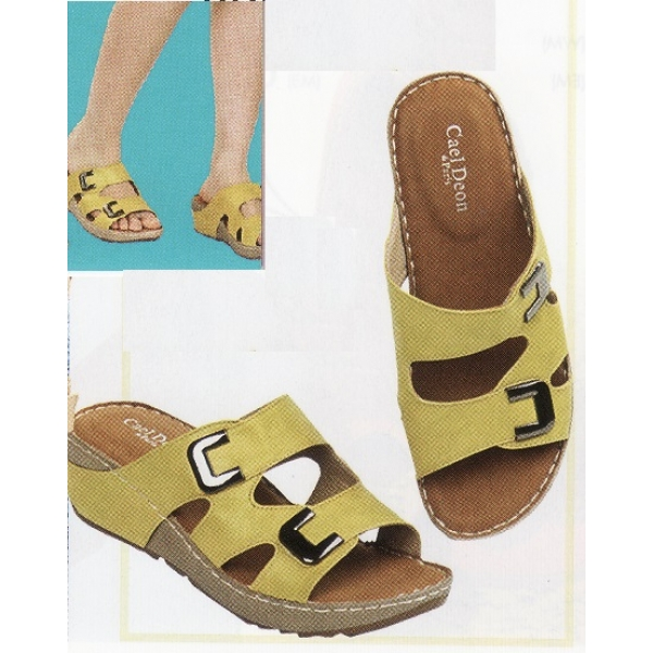 **CELLY**Ladies Comfort Shoe Sandal (Yellow)