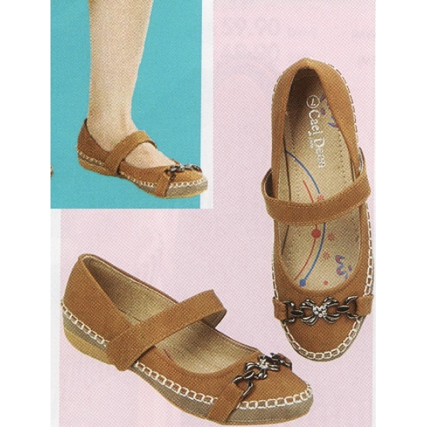 **CELLY**Ladies Flat/ Ballerina Shoe (Almond)