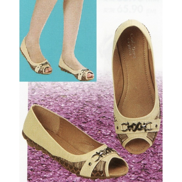 **CELLY**Ladies Flat/ Ballerina Shoe (Beige)