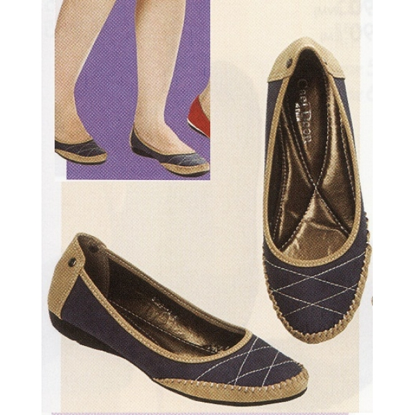 **CELLY**Ladies Flat/ Ballerina Shoe (Blue)